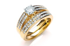 18ct Yellow Gold 1.00ct Fancy Bridal Set