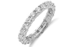 18ct White Gold 2.00ct Full Diamond Eternity Ring