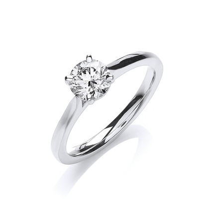 Selling: 18ct White Gold 0.70ct Certificated Engagement Ring