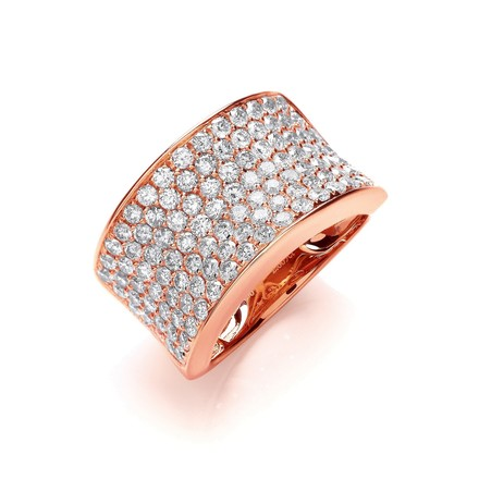 Selling: 18ct Rose Gold 2.00ct Pave Set Ring