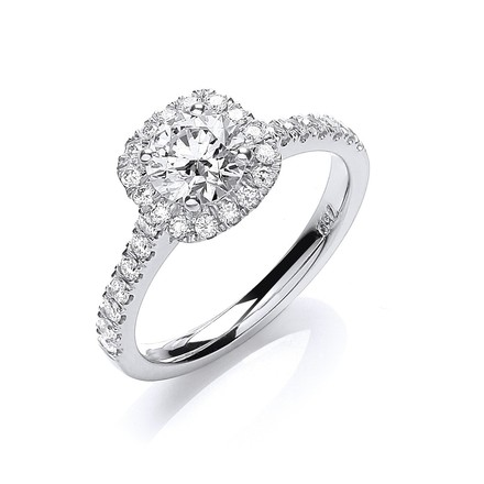 18ct White Gold 1.00ctw Certificated Engagement Ring