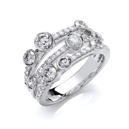 Selling: 18ct White Gold 1.60ct GH-SI Diamond Dress Ring