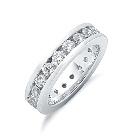 18ct White Gold 2.00ct Full Diamond Eternity Ring