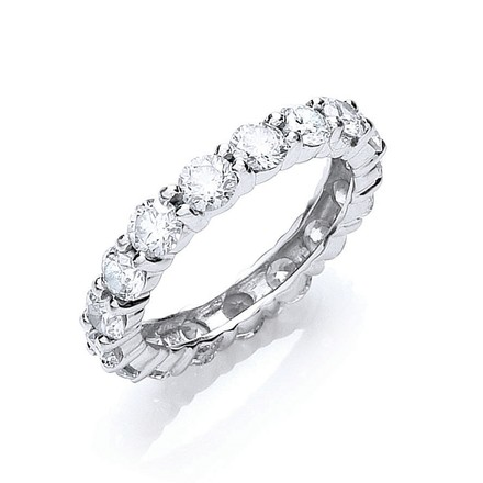 Selling: 18ct White Gold 3.00ct Full Diamond Eternity Ring