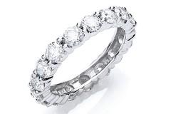 18ct White Gold 3.00ct Full Diamond Eternity Ring