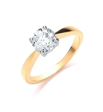 Selling: 18ct Yellow Gold 1.00ct Diamond Engagement Ring