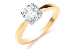18ct Yellow Gold 1.00ct Diamond Engagement Ring