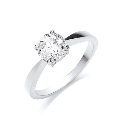 Selling: 18ct White Gold 1.00ct Diamond Engagement Ring
