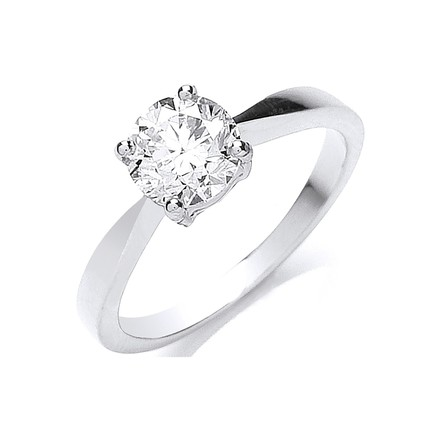 Platinum 1.00ct Diamond Engagement Ring
