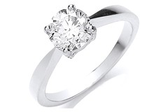 Platinum 1.00ct Diamond Engagement Ring