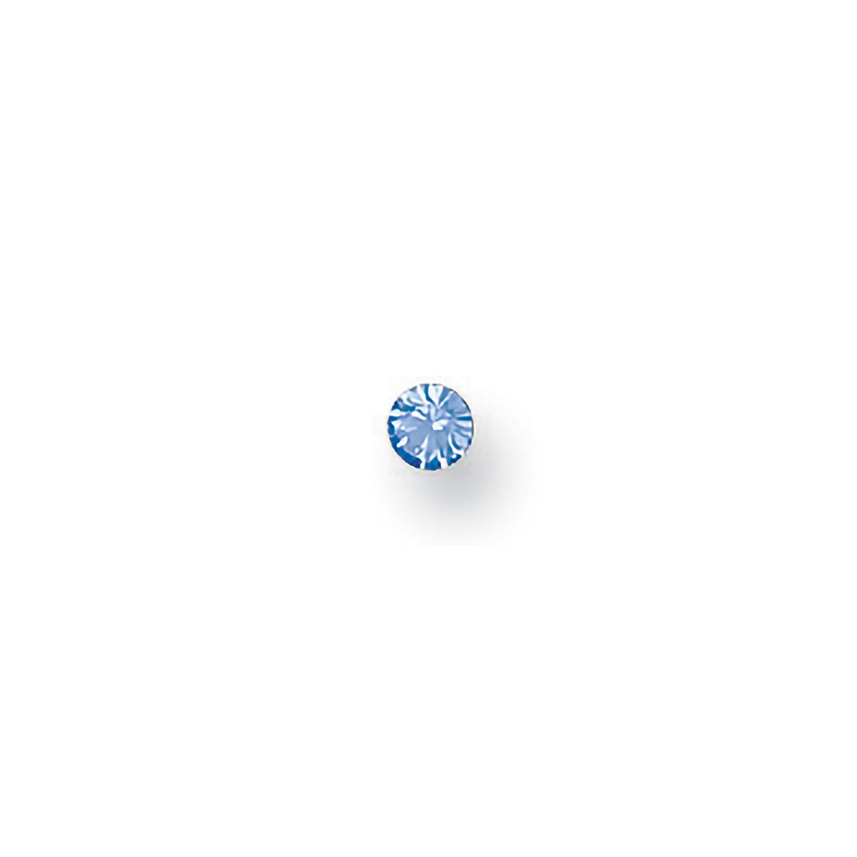 Y/G Blue Cz Nose Stud