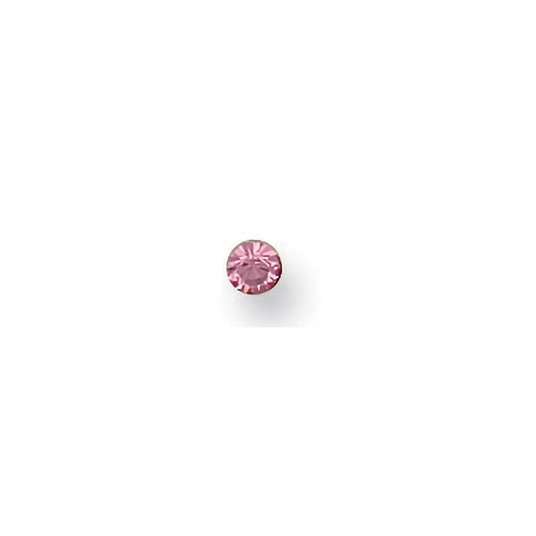 Y/G Pink Cz Nose Stud