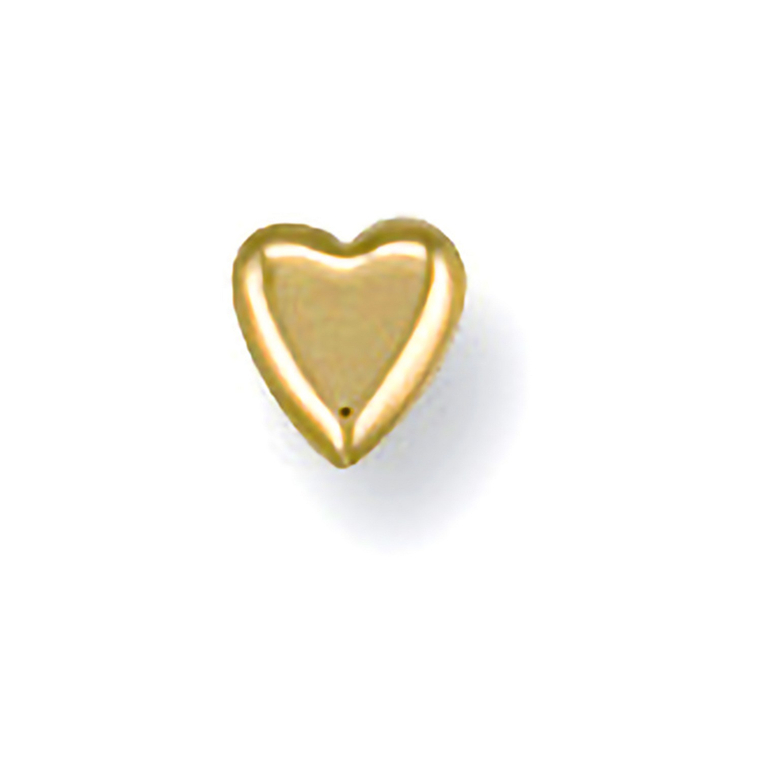 Y/G Heart Nose Stud