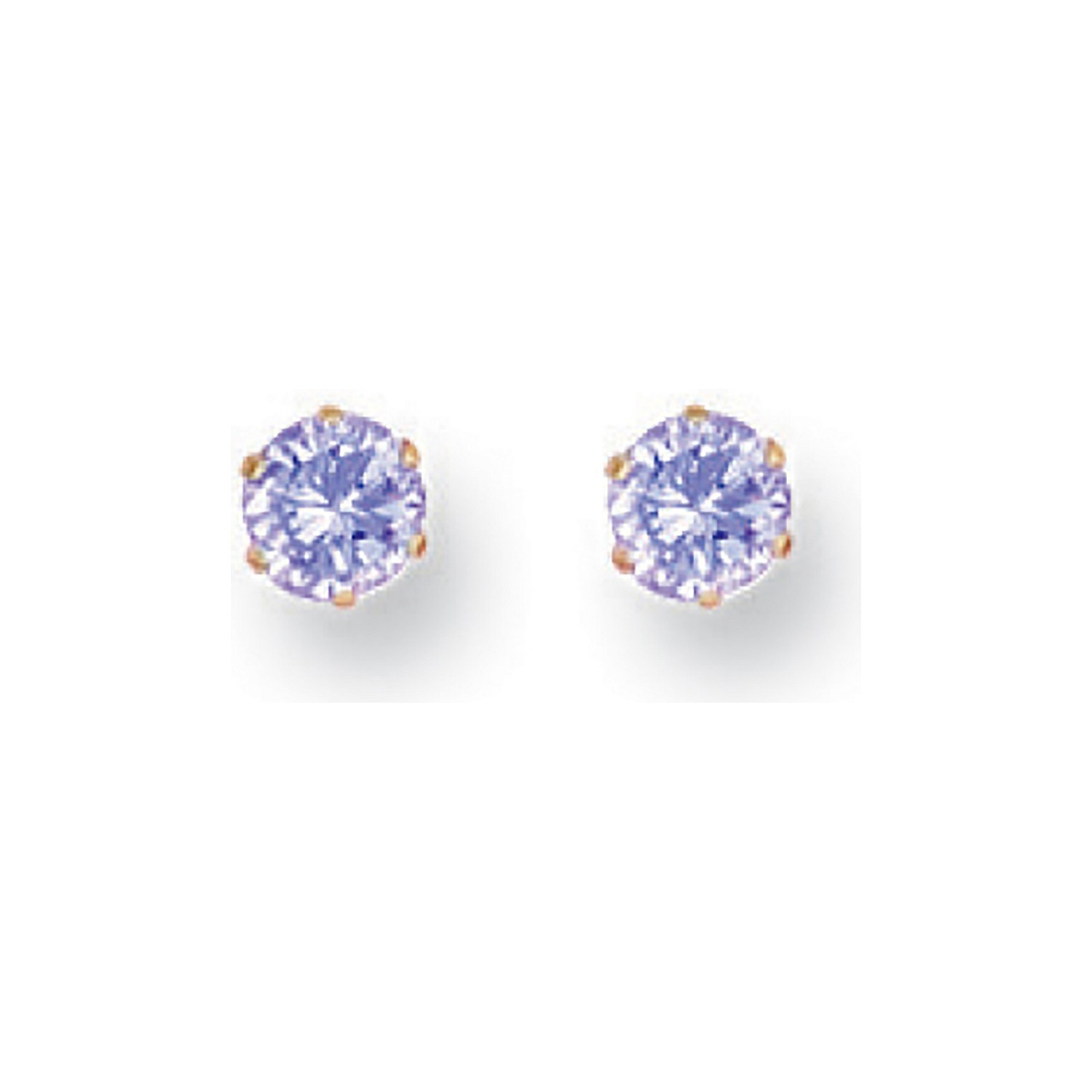Y/G 4mm Claw Set Lavander Cz Studs