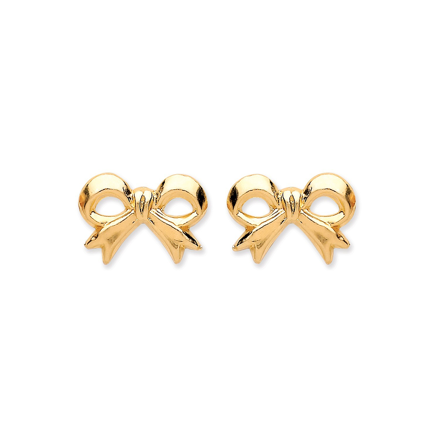 9ct Y/G Bow Stud