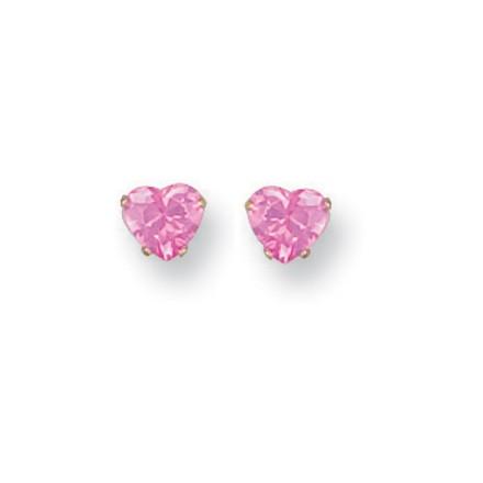 Y/G Claw Set Pink Cz Studs