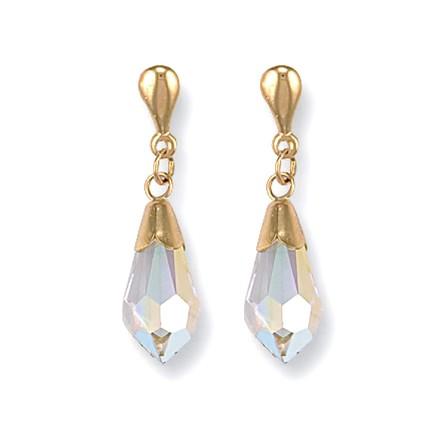 Selling: Y/G White Austrian Crystal Drop Studs