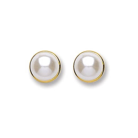 Selling: 9ct Gold Simulated Pearl Stud