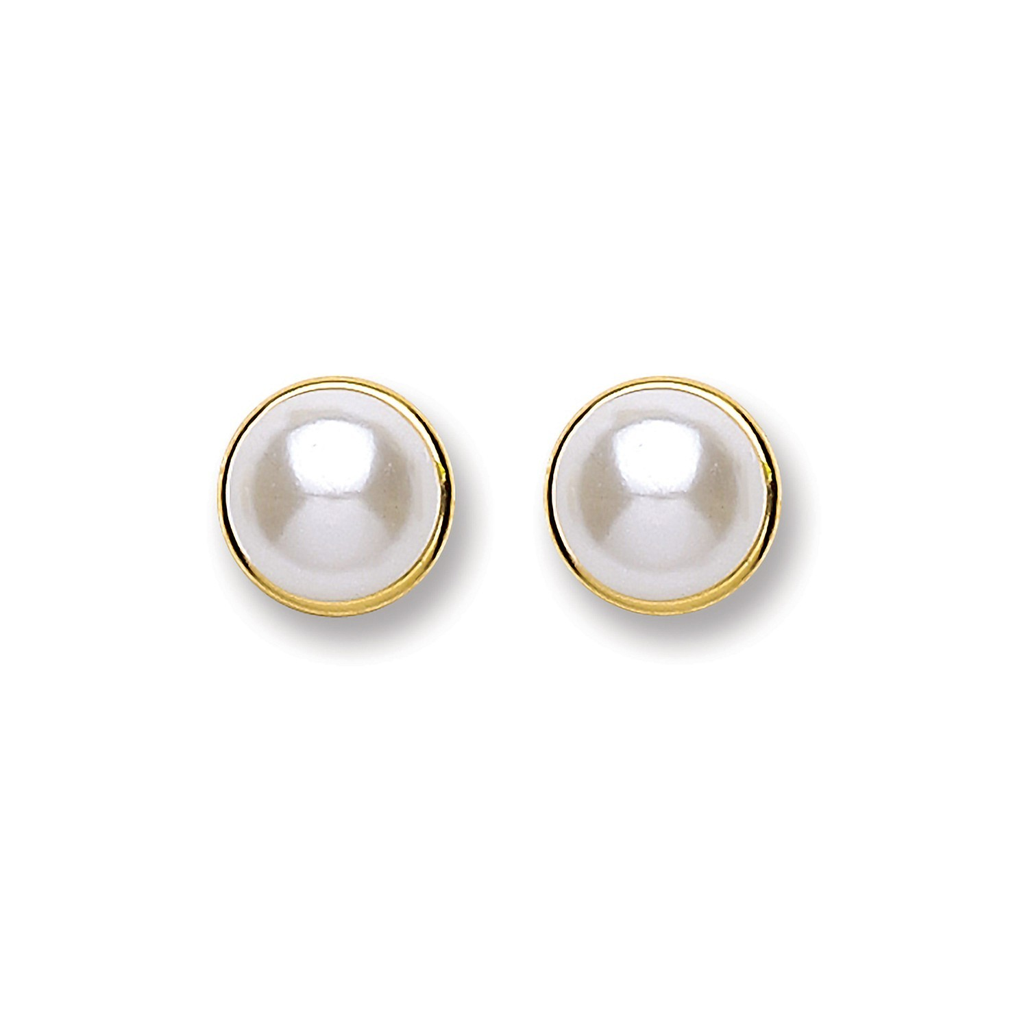 9ct Gold Simulated Pearl Stud