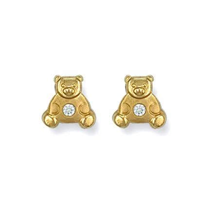 Selling: Y/G Cz Teddy Bear Studs