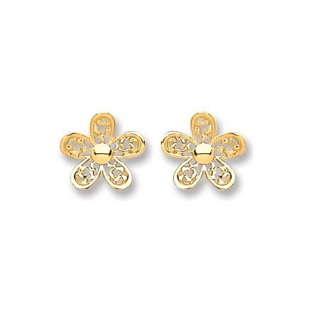 Selling: 9ct Gold Flower Stud