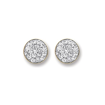 Selling: 9ct Gold Round Crystals Stud