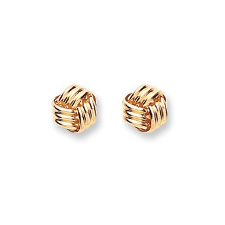 Selling: 9ct Y/G Fancy Knot Studs