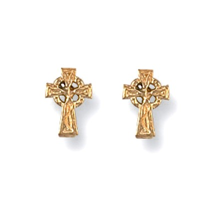 Selling: 9ct Y/G Celtic Cross Studs