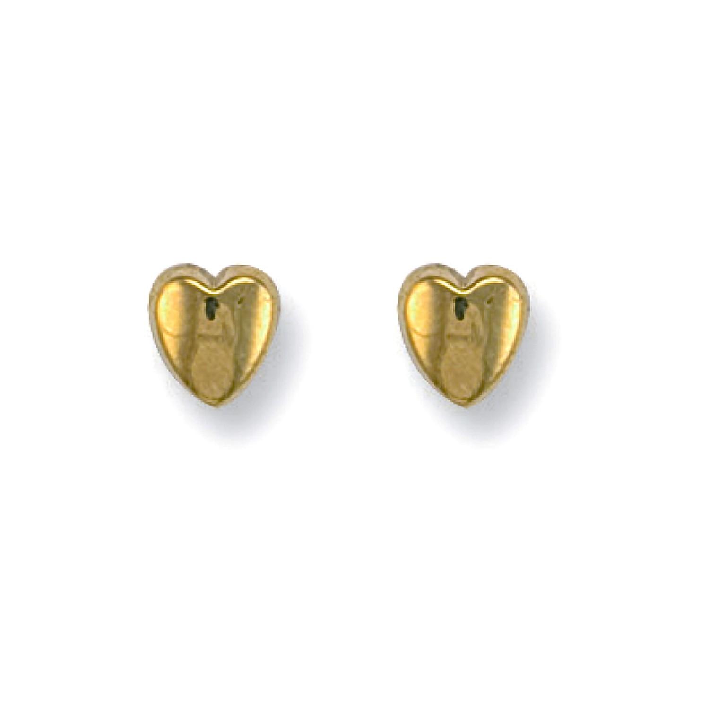 9ct Y/G Heart Studs