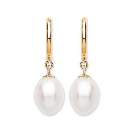 Selling: 9ct Y/G Freshwater Pearl Drop Stud
