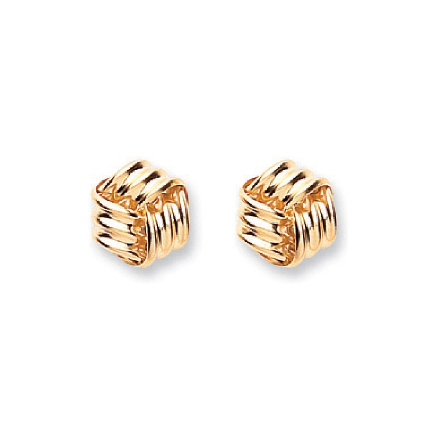 9ct Y/G Fancy Knot Studs