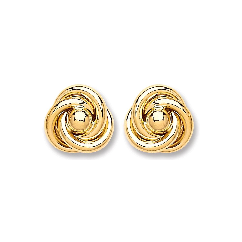 9ct Gold Medium Knot Stud
