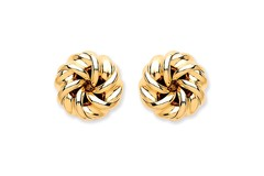 9ct Y/G Tight Knot Stud