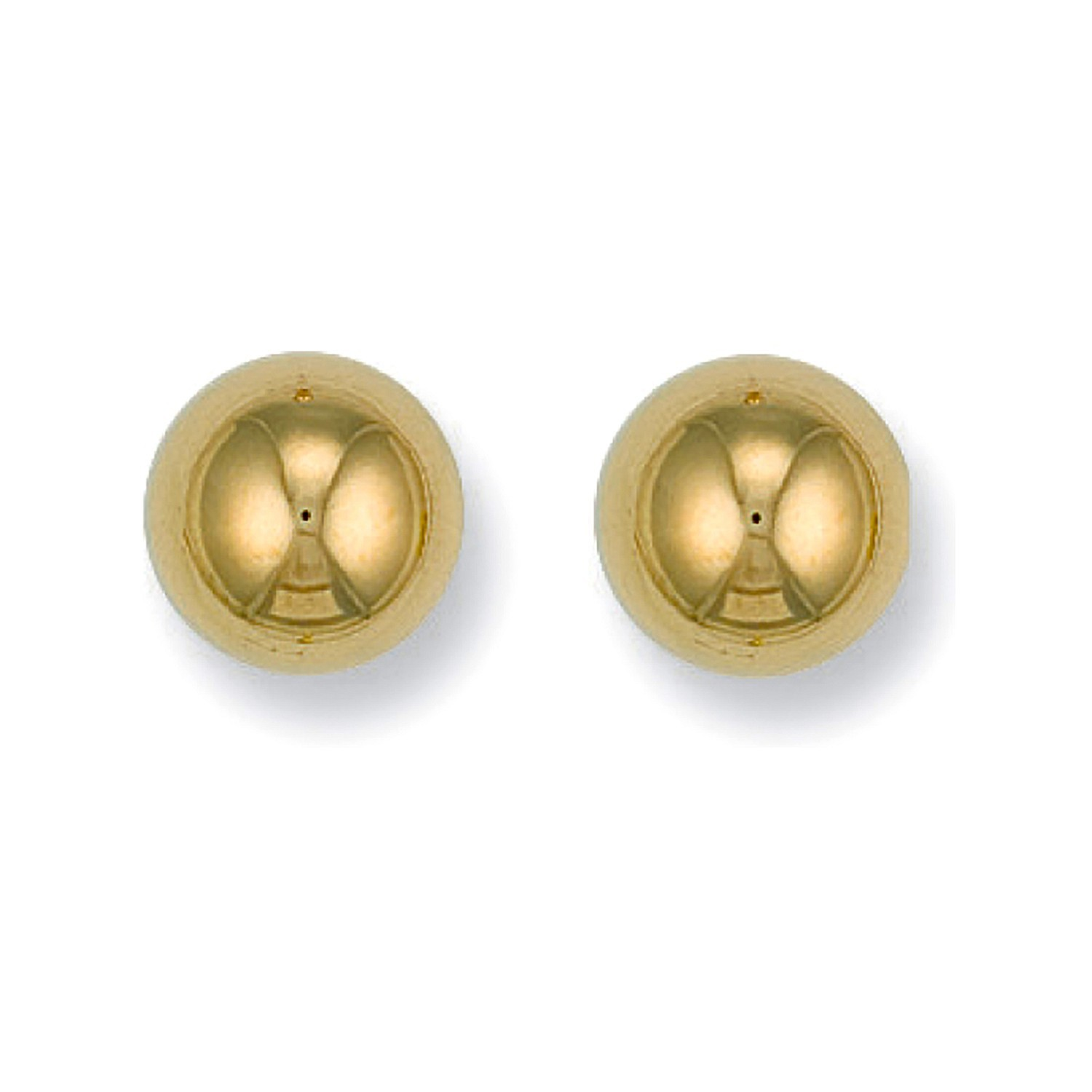 9ct Y/G 10mm Ball Studs