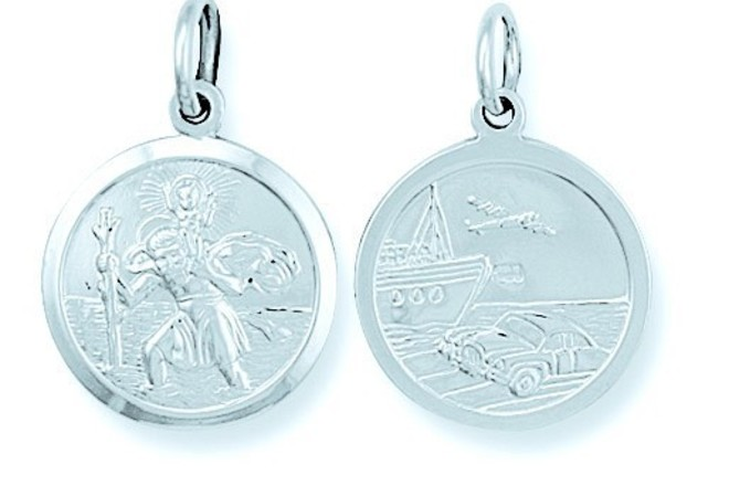 Selling: Silver Double Sided St Christopher Pendant