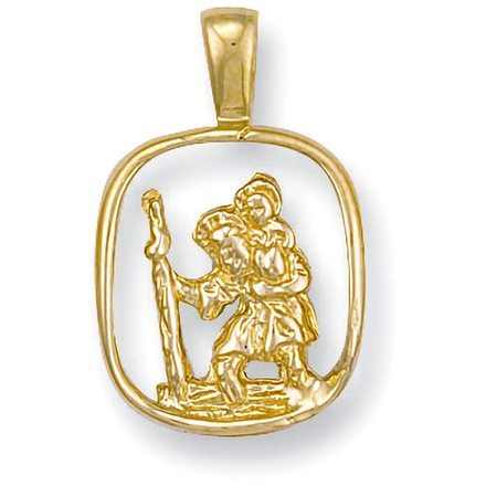 Selling: Y/G Cut Out St Christopher Pendant