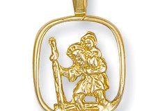 Y/G Cut Out St Christopher Pendant