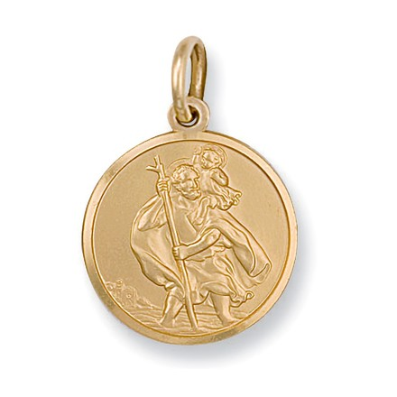 Selling: Y/G St Christopher Pendant