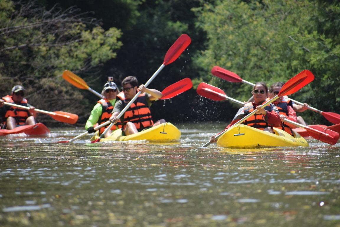 Kayak en el Río Chovellén