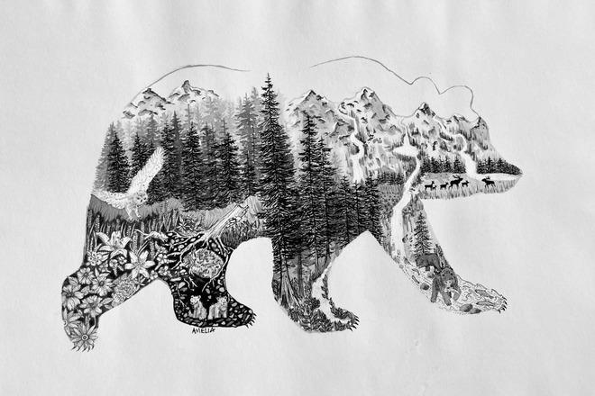 Selling: The Spirit Bear (Ink)
