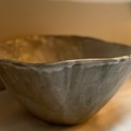 """Selling: Large Terracotta Serving Bowl Glazed in 'Fat Cream"""""""