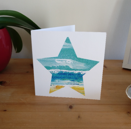 Selling: The Wave - Seascape Star Card based on St Ives, Cornwall