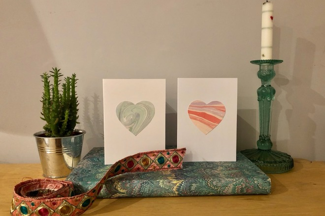 Selling: Marbled Paper Cards