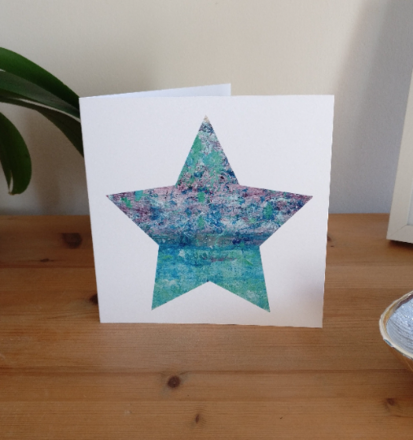 Selling: Purple Storm - Seascape Star Card based on St Ives, Cornwall