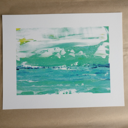 Selling: It's a Washout - Abstract Seascape Fine Art Giclee Print
