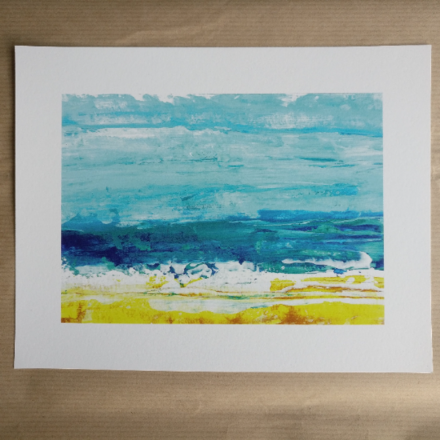 Selling: Shorebreak - Abstract Seascape Fine Art Giclee Print