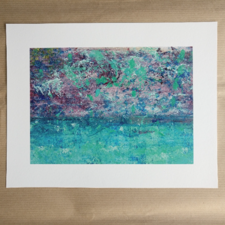 Selling: Purple Storm - Abstract Seascape Fine Art Giclee Print