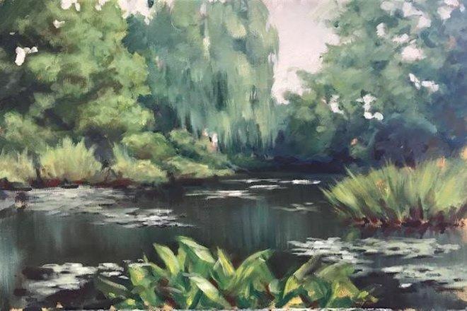 Selling: Lush Waterside Garden