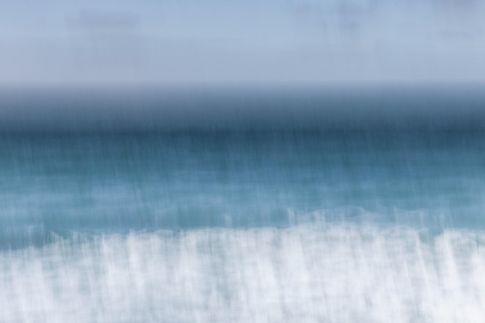 In Blue - Sennen II  / Abstract Cornish Seascape / A3 Print