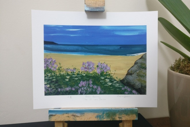 Selling: Rock Pooling, The St Ives Series - giclée fine art print